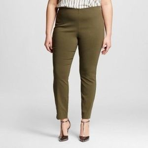 NWT Who What Wear Olive Green Skinny Crop Pants
